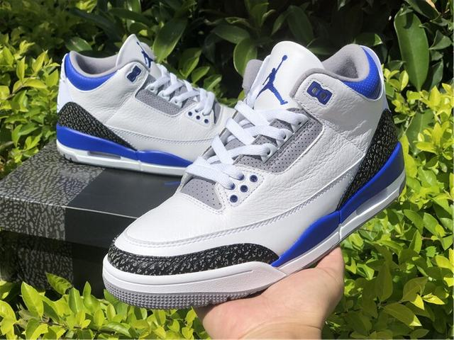 "Authentic Air Jordan 3 ""Racer Blue"""
