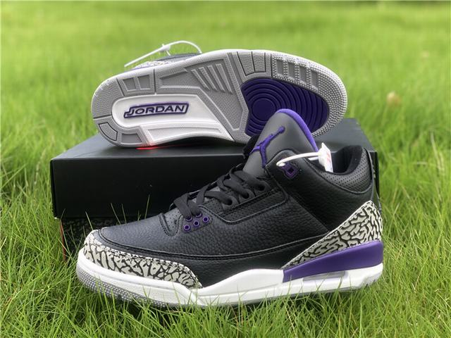 Authentic Air Jordan 3 Court Purple