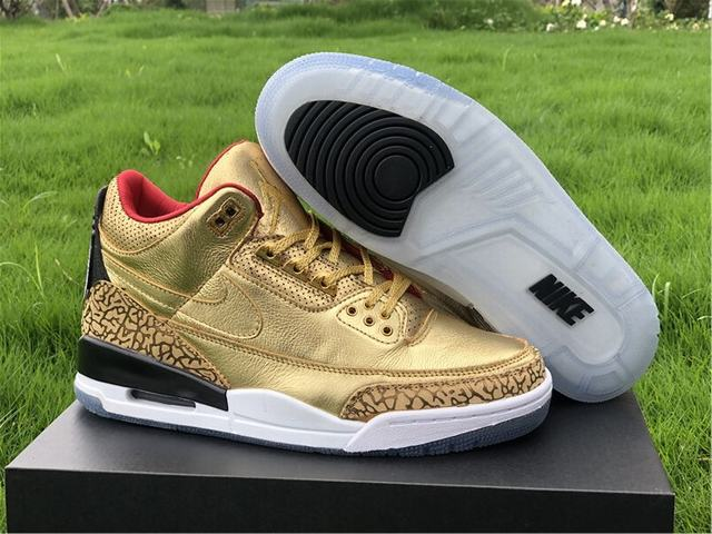 Authentic Air Jordan 3 GOLD