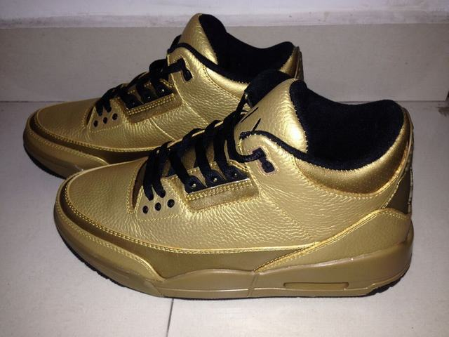 Authentic Air Jordan 3 Gold PE