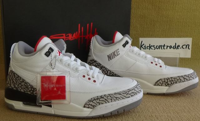 Authentic Air Jordan 3 JTH NRG Fire Red