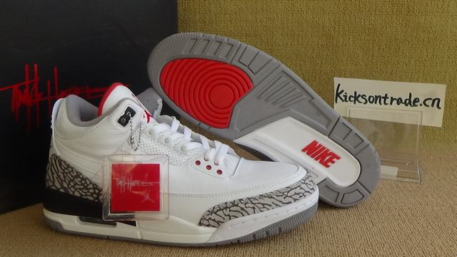 Authentic Air Jordan 3 JTH NRG Fire Red