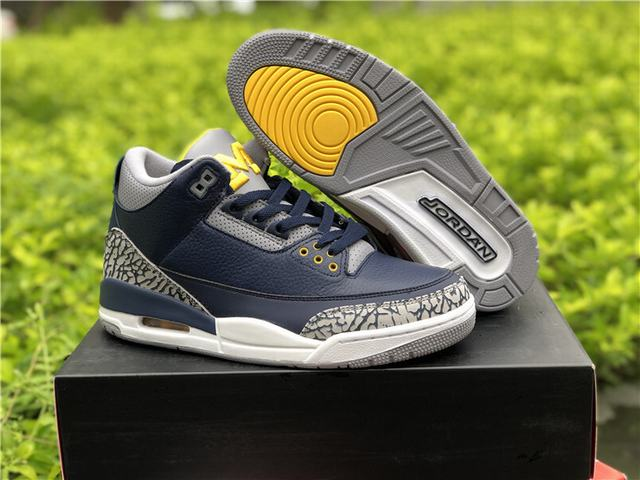 Authentic Air Jordan 3 Michigan