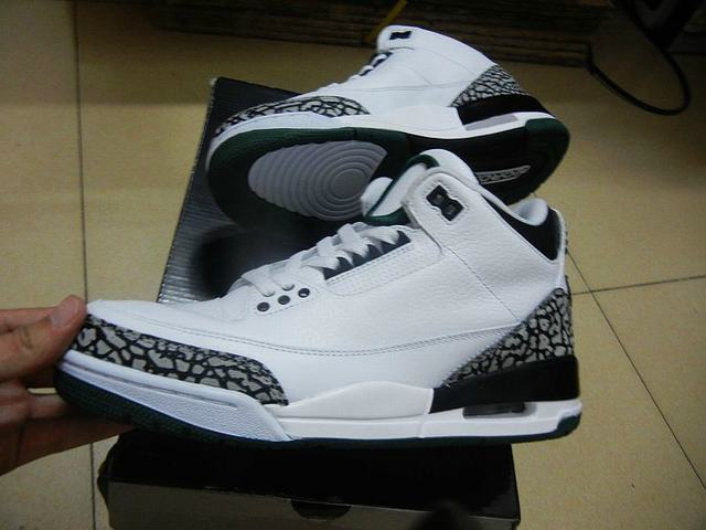 Authentic Air Jordan 3 Oregon Ducks White