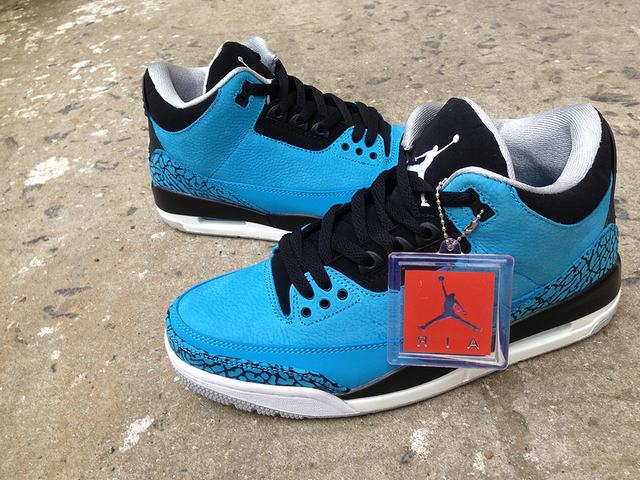 Authentic Air Jordan 3 Powder Blue