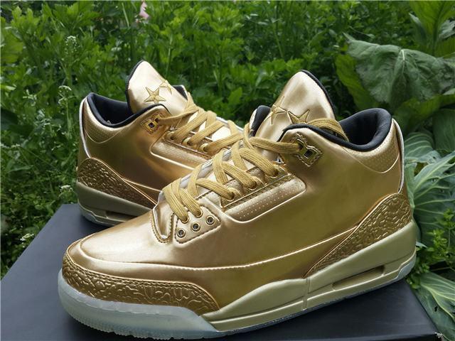 Authentic Air Jordan 3 Retro Gold