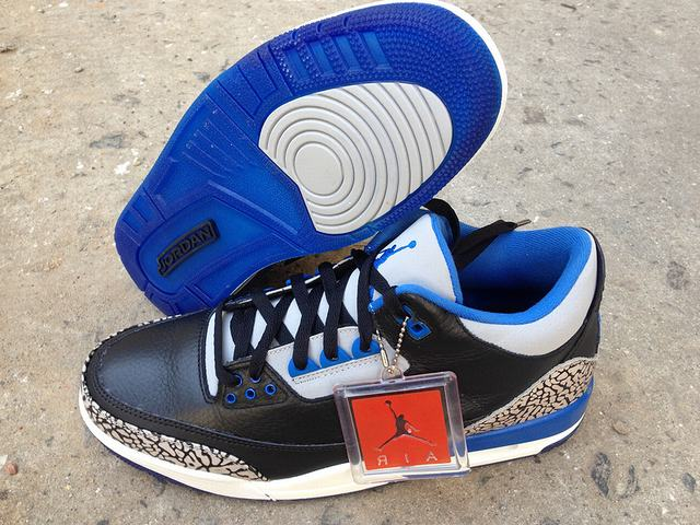 Authentic Air Jordan 3 Sport Blue