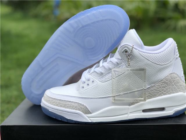 Authentic Air Jordan 3 White Cat