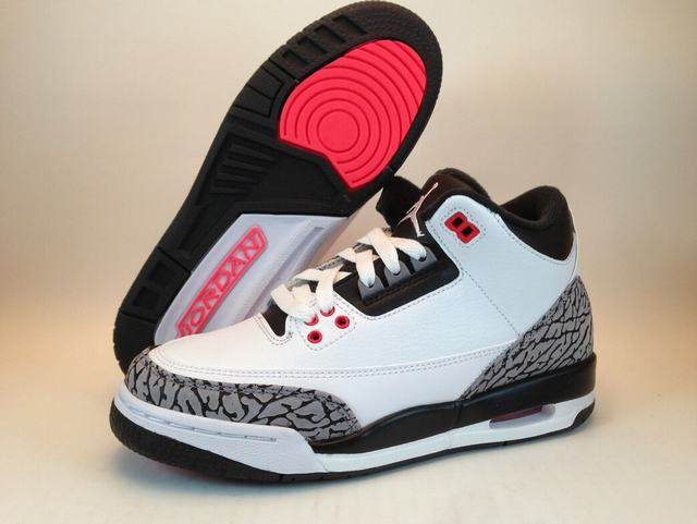 Authentic Air Jordan 3 White Cement GS