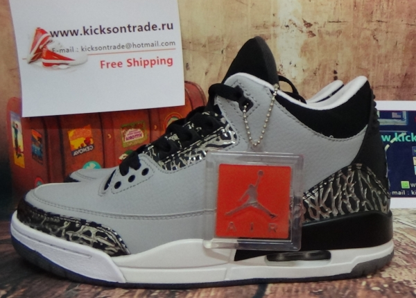 Authentic Air Jordan 3 Wolf Grey