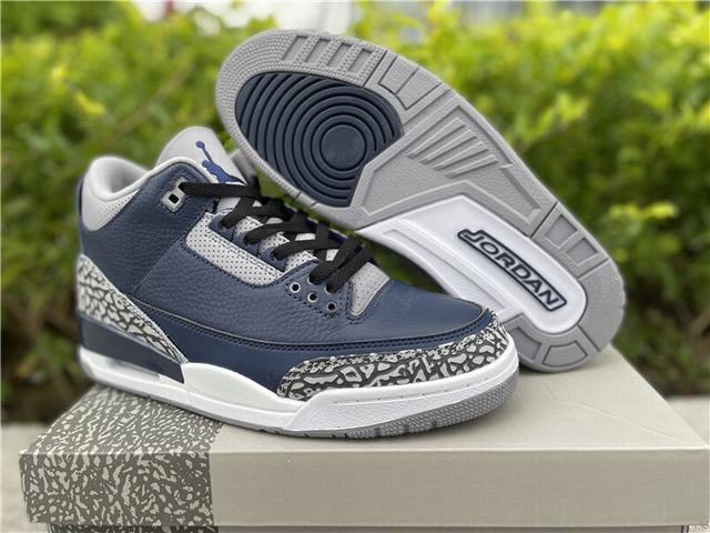 "Authentic Air Jordan 3""Midnight Navy"""