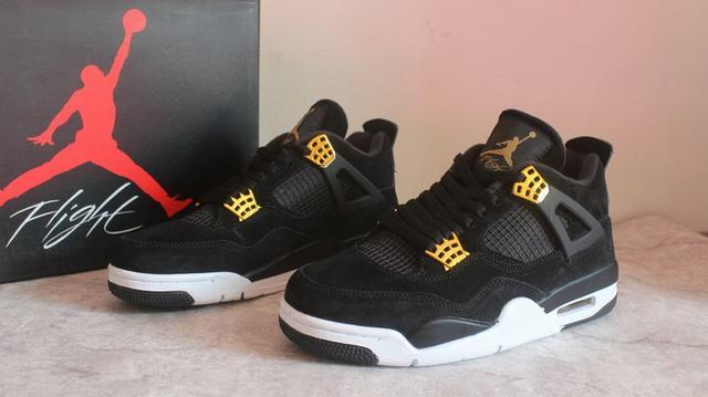 "Authentic Air Jordan 4 ""Black Suede"" GS"
