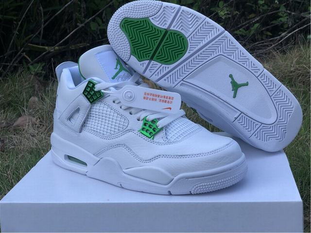 "Authentic Air Jordan 4 ""Green Metallic"""