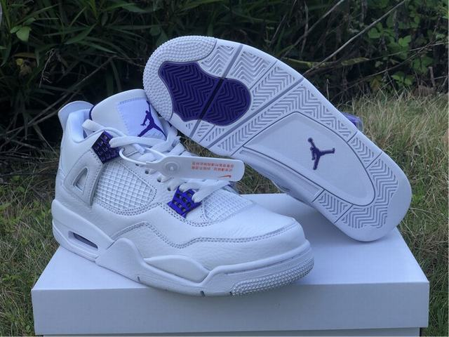 "Authentic Air Jordan 4 ""Purple Metallic"""