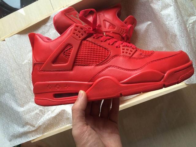 """Authentic Air Jordan 4 """"Red Louis Vuitton Don"""""""