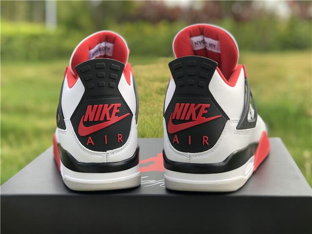 "Authentic Air Jordan 4 ""Fire Red"""