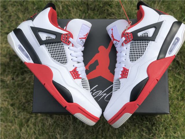 "Authentic Air Jordan 4 ""Fire Red"""