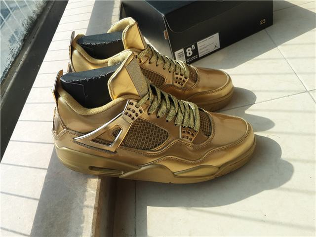 Authentic Air Jordan 4 Gold