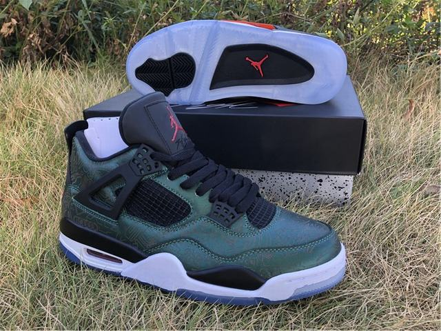 Authentic Air Jordan 4 Green