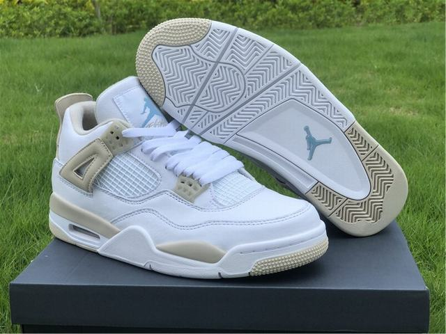 Authentic Air Jordan 4 Linen