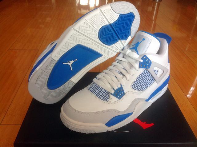 Authentic Air Jordan 4 Military Blue