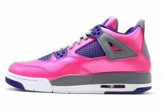 Authentic Air Jordan 4 Pink Foil GS