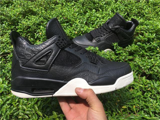 Authentic Air Jordan 4 Retro Premium Black
