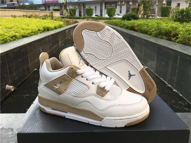Authentic Air Jordan 4 Retro Sand