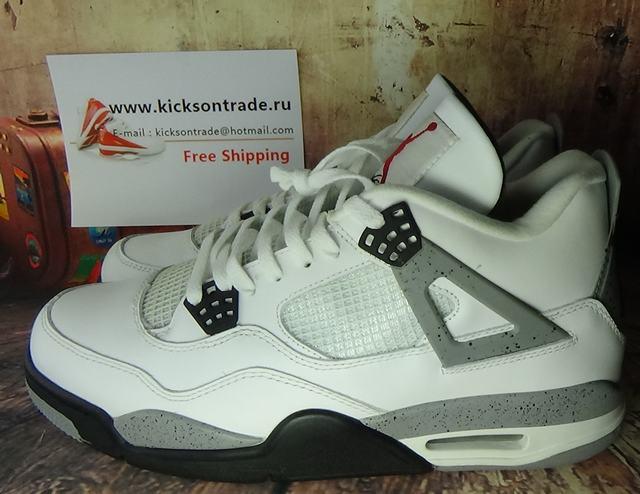 Authentic Air Jordan 4 White Cement