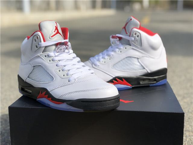 "Authentic Air Jordan 5 ""Fire Red"" 2019"