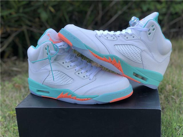 "Authentic Air Jordan 5 ""Light Aqua"""