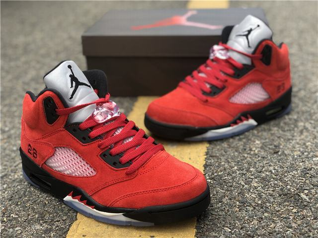 "Authentic Air Jordan 5 ""Raging Bull"" 2020"