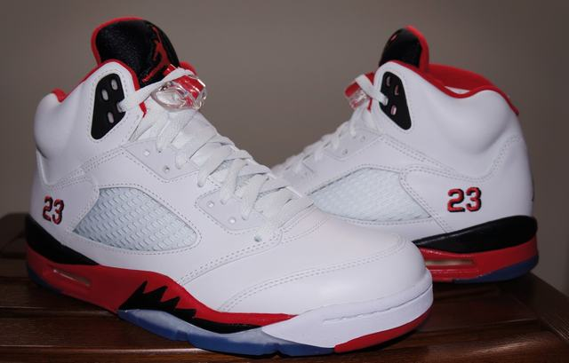 Authentic Air Jordan 5 Fire Red