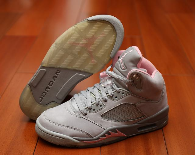 Authentic Air Jordan 5 GS Grey Pink