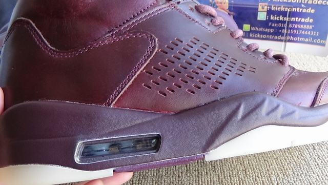 "Authentic Air Jordan 5 Premium ""Bordeaux"""