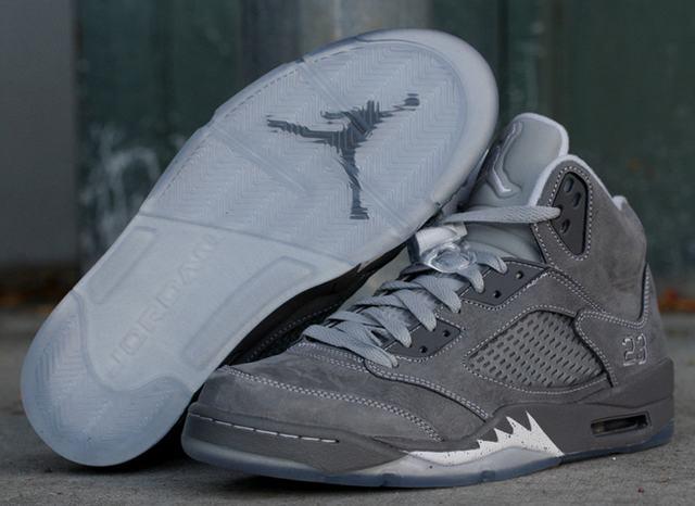 "Authentic Air Jordan 5 Retro ""Wolf Grey"""