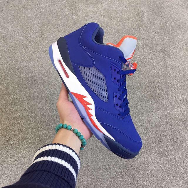 Authentic Air Jordan 5 Retro Low Blue