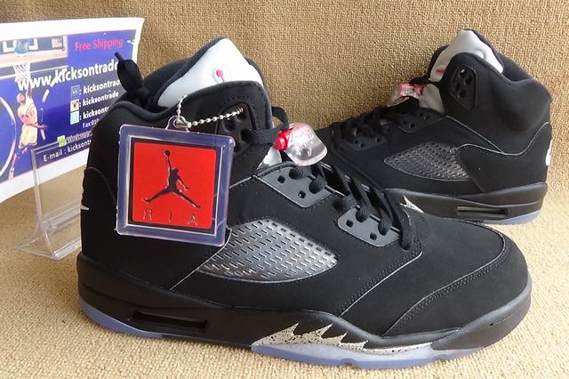 "Authentic Air Jordan 5 Retro OG ""Black Metallic"""
