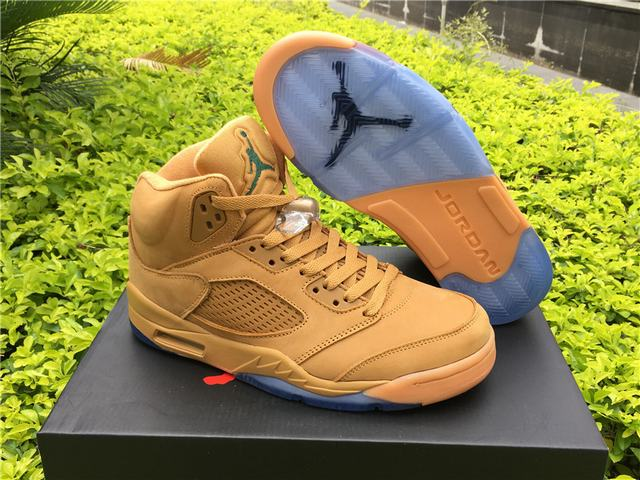 Authentic Air Jordan 5 Wheat