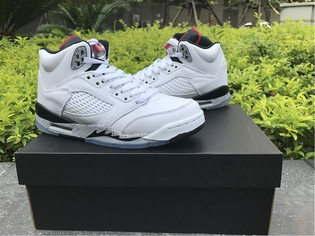 Authentic Air Jordan 5 White Cement GS