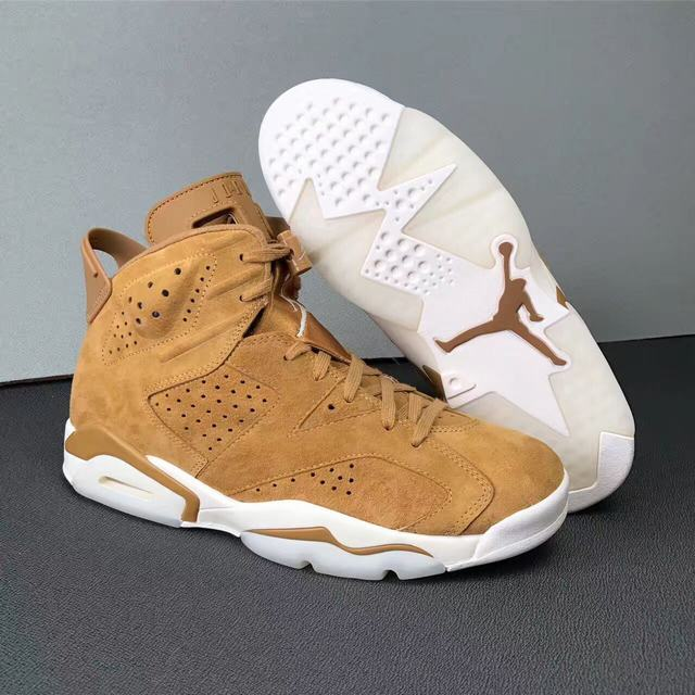 "Authentic Air Jordan 6 ""Golden Harvest"""
