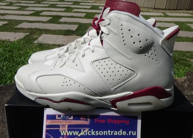 "Authentic Air Jordan 6 ""Maroon"" 2015"