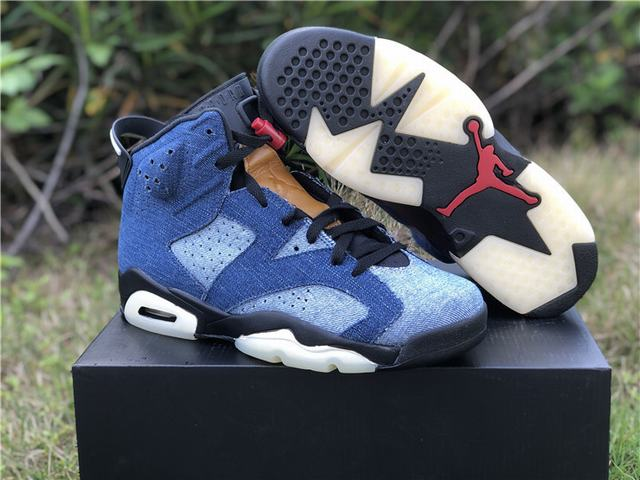 "Authentic Air Jordan 6 ""Washed Denim"""