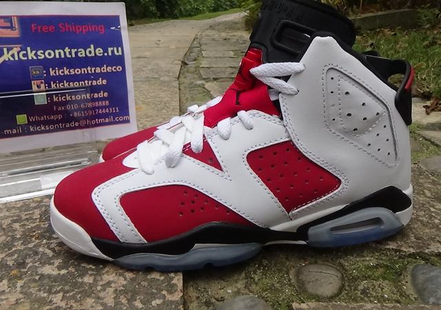 Authentic Air Jordan 6 Carmine GS