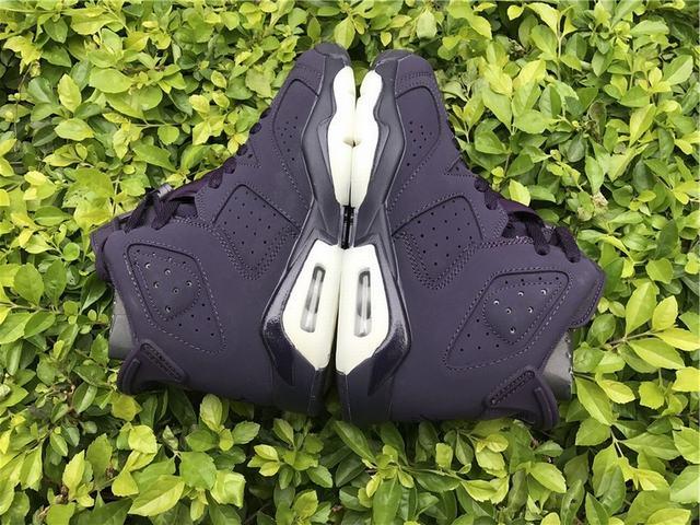 Authentic Air Jordan 6 GS Dark Purple Suede