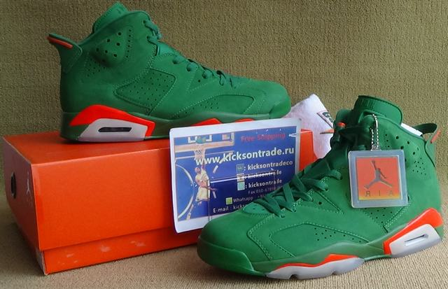 Authentic Air Jordan 6 Gatorade Green