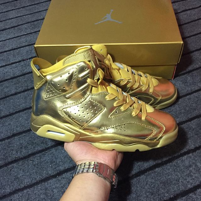 Authentic Air Jordan 6 Gold Custom-Made