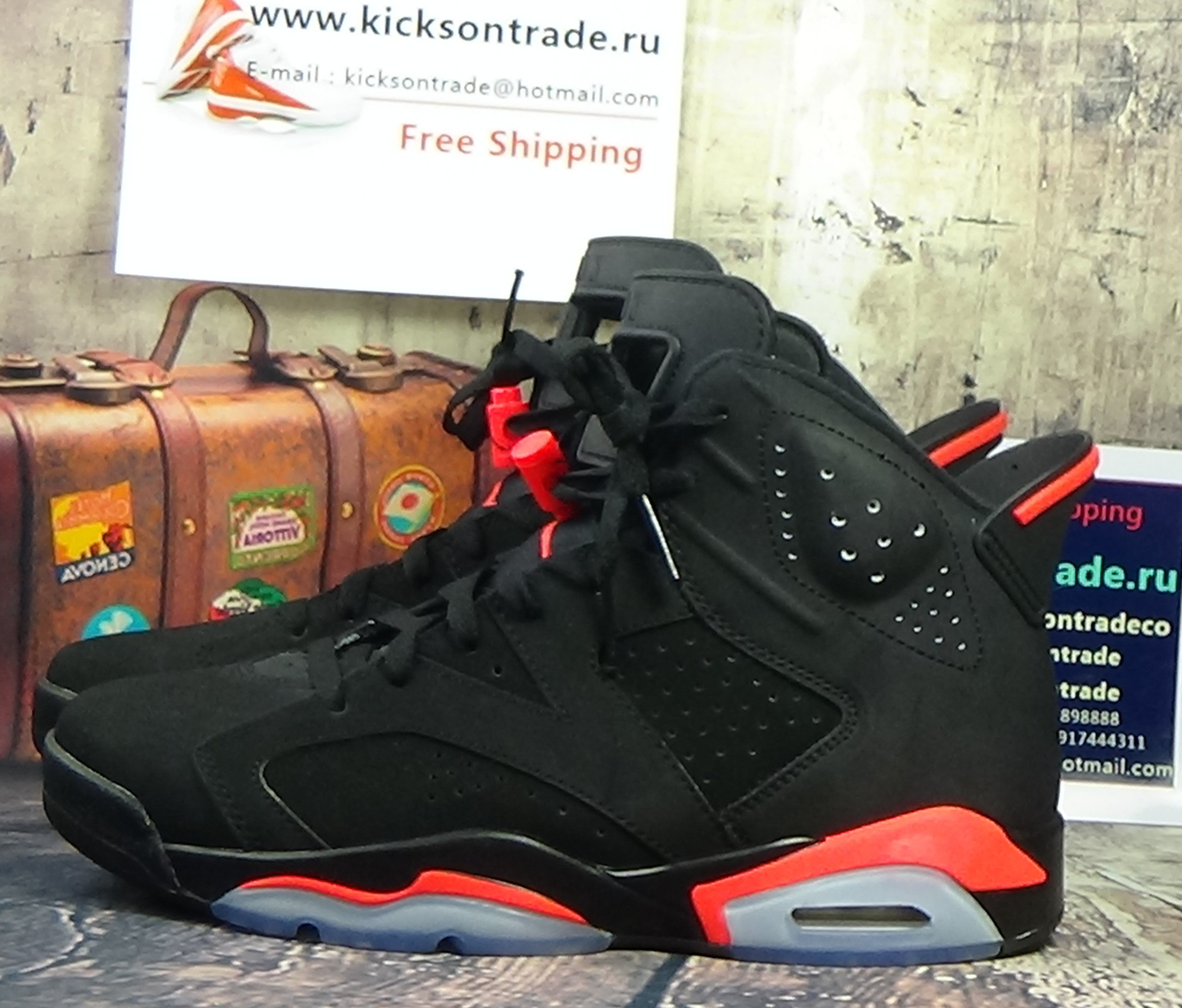 Authentic Air Jordan 6 Infrared(2014 New Version)