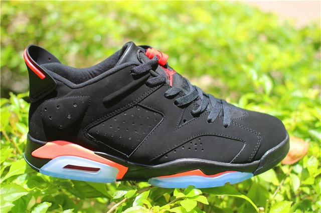 Authentic Air Jordan 6 Low Black Infrared