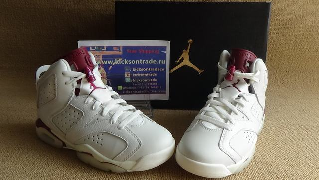 Authentic Air Jordan 6 Maroon GS